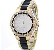 Недорогие -Жен. Кварцевый Нарядные часы Китайский Имитация Алмазный Повседневные часы сплав Группа минималист Мода Черный Белый Синий Серый Розовый
