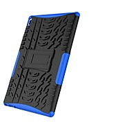 Недорогие -Кейс для Назначение Lenovo Tab 4 10 Защита от удара со стендом броня Кейс на заднюю панель Плитка броня Твердый ПК для Lenovo Tab 4 10