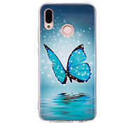 cheap -Case For Huawei P20 lite P20 Pro Glow in the Dark IMD Pattern Back Cover Butterfly Shine Soft TPU for Huawei P20 lite Huawei P20 Pro