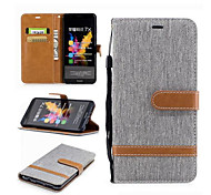 cheap -Case For Huawei Motorola Card Holder Wallet with Stand Flip Full Body Cases Lines / Waves Hard Textile for Moto G5 Plus Moto G5 Moto G4