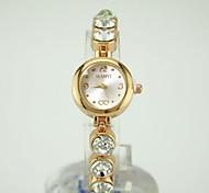Недорогие -Жен. Кварцевый Часы-браслет Китайский Повседневные часы сплав Группа Мода Золотистый