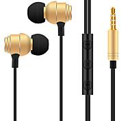 baratos -T018 No ouvido Audio IN Fones Dinâmico Aluminum Alloy Esporte e Fitness Fone de ouvido Fone de ouvido