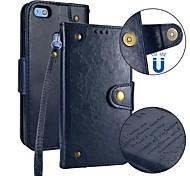 Недорогие -Кейс для Назначение Huawei P10 P10 Lite Бумажник для карт Кошелек Флип Магнитный Чехол Однотонный Твердый Кожа PU для P10 Lite P10 Huawei
