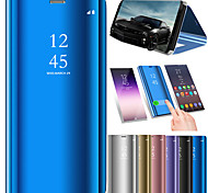 cheap -Case For Samsung Galaxy S9 S9 Plus Shockproof with Stand Mirror Auto Sleep/Wake Up Full Body Cases Solid Colored Hard PU Leather for S9