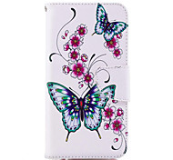 cheap -Case For Huawei P20 lite P20 Card Holder Wallet with Stand Flip Pattern Full Body Cases Butterfly Hard PU Leather for Huawei P20 lite