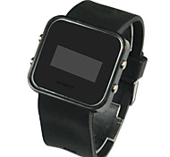 cheap -Men's Digital Wrist Watch Calendar / date / day LED Silicone Band Charm Black