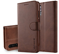 cheap -Case For Huawei P20 Pro P20 Wallet with Stand Flip Full Body Cases Solid Colored Hard PU Leather for Huawei P20 lite Huawei P20 Pro