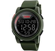 Недорогие -SKMEI Муж. Цифровой электронные часы Модные часы Спортивные часы Календарь Защита от влаги Крупный циферблат Хронометр ЖК экран Pезина