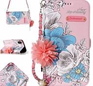 Недорогие -Кейс для Назначение Apple iPhone X iPhone 7 Бумажник для карт С узором Чехол Цветы Твердый Кожа PU для iPhone X iPhone 8 Pluss iPhone 8