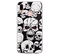 cheap -Case For Huawei P20 lite P20 Pro Glow in the Dark IMD Pattern Back Cover Shine Skull Soft TPU for Huawei P20 lite Huawei P20 Pro Huawei