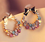 cheap -Women's Stud Earrings - Simple / Classic / Sweet Gold Circle / Bowknot Earrings For Daily