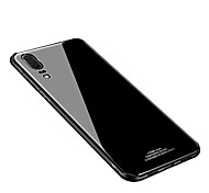 cheap -Case For Huawei P20 lite P20 IMD Mirror Back Cover Solid Colored Hard Tempered Glass for Huawei P20 lite Huawei P20 Pro Huawei P20
