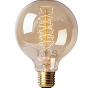 cheap -1pc 40W E26/E27 G125 Warm White 2200-2700k K Retro Dimmable Decorative Incandescent Vintage Edison Light Bulb 220-240V