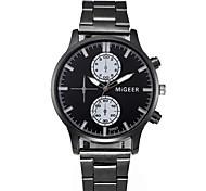 Недорогие -Муж. Кварцевый Нарядные часы Модные часы Китайский Секундомер Нержавеющая сталь Группа Творчество Мода Черный Серебристый металл
