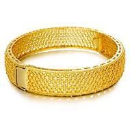 cheap -Women's Cuff Bracelet - Metallic Statement Ethnic Circle Gold Bracelet For Party Gift