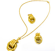 cheap -Women's Jewelry Set 1 Necklace / Earrings - Statement / Fashion Irregular Gold Jewelry Set / Drop Earrings / Pendant Necklace For Wedding