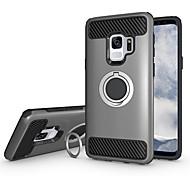 Недорогие -Кейс для Назначение SSamsung Galaxy S9 S9 Plus Защита от удара Кольца-держатели броня Кейс на заднюю панель Однотонный Твердый ПК для S9