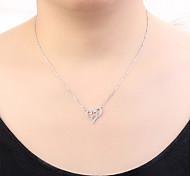 preiswerte -Damen Kubikzirkonia Anhängerketten - Herz, Stern Europäisch, Modisch Gold, Silber, Rotgold 40 cm Modische Halsketten Für Normal, Alltag