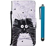cheap -Case For Huawei P9 lite mini Huawei P smart Card Holder Wallet with Stand Flip Magnetic Full Body Cases Cat Hard PU Leather for P10 Lite