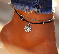 cheap -Layered Anklet - Sun Vintage, Bohemian, Tropical Silver For Gift / Bikini