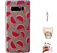 cheap -Case For Samsung Galaxy Note 8 Transparent / Pattern Back Cover Fruit Soft TPU for Note 8