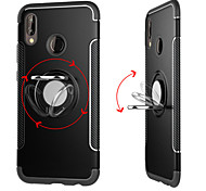 Недорогие -Кейс для Назначение Huawei P20 Pro / P20 lite Кольца-держатели / броня Кейс на заднюю панель Однотонный Твердый ПК для Huawei P20 /