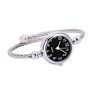 cheap -Women's Quartz Bracelet Watch Chinese Chronograph / Casual Watch Alloy Band Minimalist / Bangle Silver