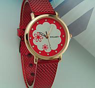 cheap -Women's Wrist Watch Casual Watch Plastic Band Flower / Fashion Black / White / Red