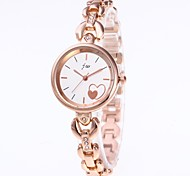 cheap -Women's Bracelet Watch Chinese Chronograph / Casual Watch Stainless Steel Band Bangle Gold