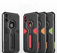 Недорогие -Кейс для Назначение Apple iPhone X / iPhone 8 Защита от удара / Рельефный / броня Кейс на заднюю панель броня Твердый ПК для iPhone X /