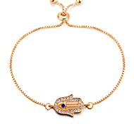 cheap -Women's Chain Bracelet - Classic, Vintage, Fashion Bracelet Gold Hamsa Hand For Daily / Date