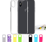 cheap -Case For Apple iPhone X / iPhone 8 / iPhone 7 Ultra-thin / Transparent Back Cover Solid Colored Soft TPU for iPhone X / iPhone 8 Plus /
