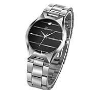 cheap -Men's Wrist Watch Chinese Chronograph / Creative / Large Dial Stainless Steel Band Luxury Black / Silver