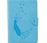 Недорогие -Кейс для Назначение SSamsung Galaxy Tab A 8.0 Бумажник для карт Кошелек со стендом С узором Авто Режим сна / Пробуждение Чехол Перья