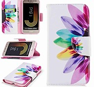 cheap -Case For Samsung Galaxy J7 (2017) J2 PRO 2018 Card Holder Wallet with Stand Flip Pattern Full Body Cases Flower Hard PU Leather for J7