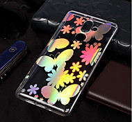 cheap -Case For Nokia Nokia 7 Plus / Nokia 6 2018 Plating / Pattern Back Cover Butterfly Soft TPU for Nokia 7 Plus / Nokia 6 2018 / Nokia 1
