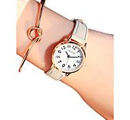 Недорогие -Жен. Кварцевый Наручные часы Китайский Секундомер / Повседневные часы Кожа Группа Винтаж / Мода Белый / Синий / Коричневый