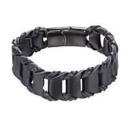 Недорогие -Муж. 1 Кожаные браслеты - Мода Геометрической формы Черный Коричневый Браслеты Назначение Повседневные
