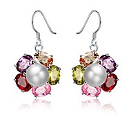 cheap -Women's Pearl / Freshwater Pearl Drop Earrings - Pearl, Stainless Steel, 18K Gold Fashion Rainbow For Gift / Evening Party