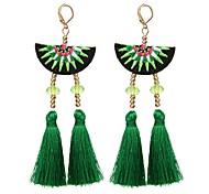 cheap -Women's Drop Earrings - Romantic, Fashion Black / Rose / Green For Party / Daily