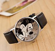 Недорогие -Жен. Наручные часы Китайский Повседневные часы / Милый Кожа Группа Мультяшная тематика / Мода Черный / Белый / Синий
