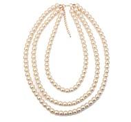 preiswerte -Damen Mehrschichtig Halskette / Perlen-Strang - Künstliche Perle Retro, Modisch, Erklärung Weiß 40+5 cm Modische Halsketten 1pc Für Party, Geburtstag
