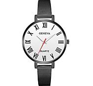 Недорогие -Geneva Жен. Наручные часы Китайский Новый дизайн / Повседневные часы / Cool сплав Группа На каждый день / Мода Черный / Серебристый металл
