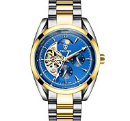 cheap -Tevise Men's Mechanical Watch Japanese Automatic self-winding Stainless Steel Silver / Gold 30 m Water Resistant / Waterproof Calendar / date / day Hollow Engraving Analog Luxury Fashion - Silver