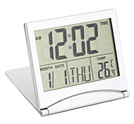 cheap -Digital LCD Screen Travel Alarm Clocks Table Desk Thermometer Timer Calendar