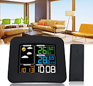 cheap -TS-75 LCD Digital In/Outdoor Car Temperature Humidity Barometer Wireless Weather Station Color Alarm Clock Weather Forecast