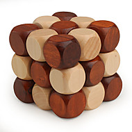 cheap -Wooden Puzzles IQ Brain Teaser Professional Level Speed Wood Classic & Timeless Girls' Boys' Gift