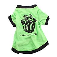 halpa -Koira T-paita Koiran vaatteet Kirjain ja numero Vihreä Puuvilla Asu Lemmikit Miesten Naisten Rento/arki