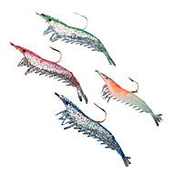 お買い得  釣り用アクセサリー-4 個 ソフトベイト ルアーパック ルアー エビ ルアーパック ソフトベイト シリコン 海釣り 川釣り バス釣り