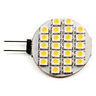 voordelige 2-pins LED-lampen-g4 led spotlight 24 smd 3528 50lm warm wit 2700k dc 12v